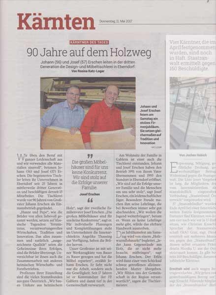 Kleine Zeitung - Kärntner des -Tage-11.Mai.2017