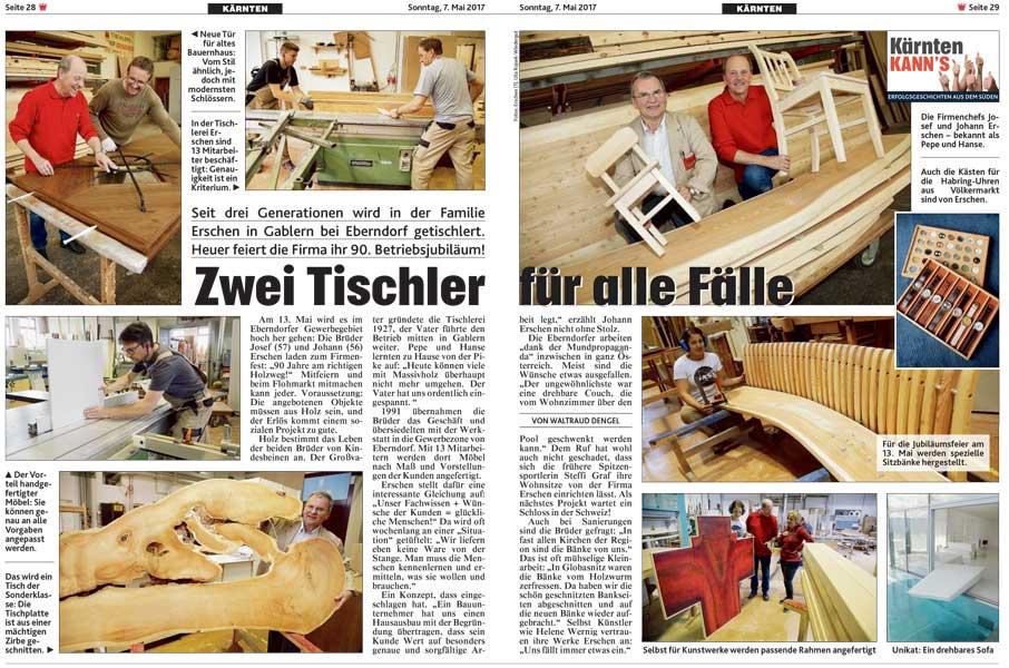 Krone Zeitung Kärnten 07.Mai.2017